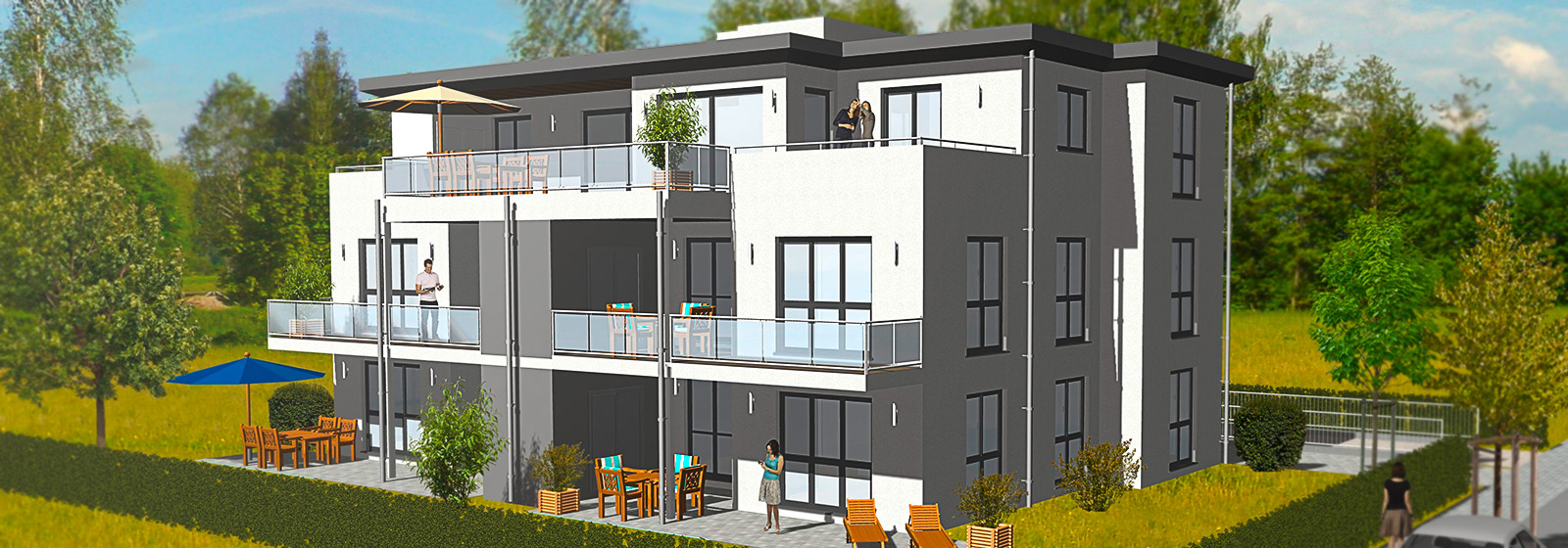 Mehrfamilienhaus mit Tiefgarage